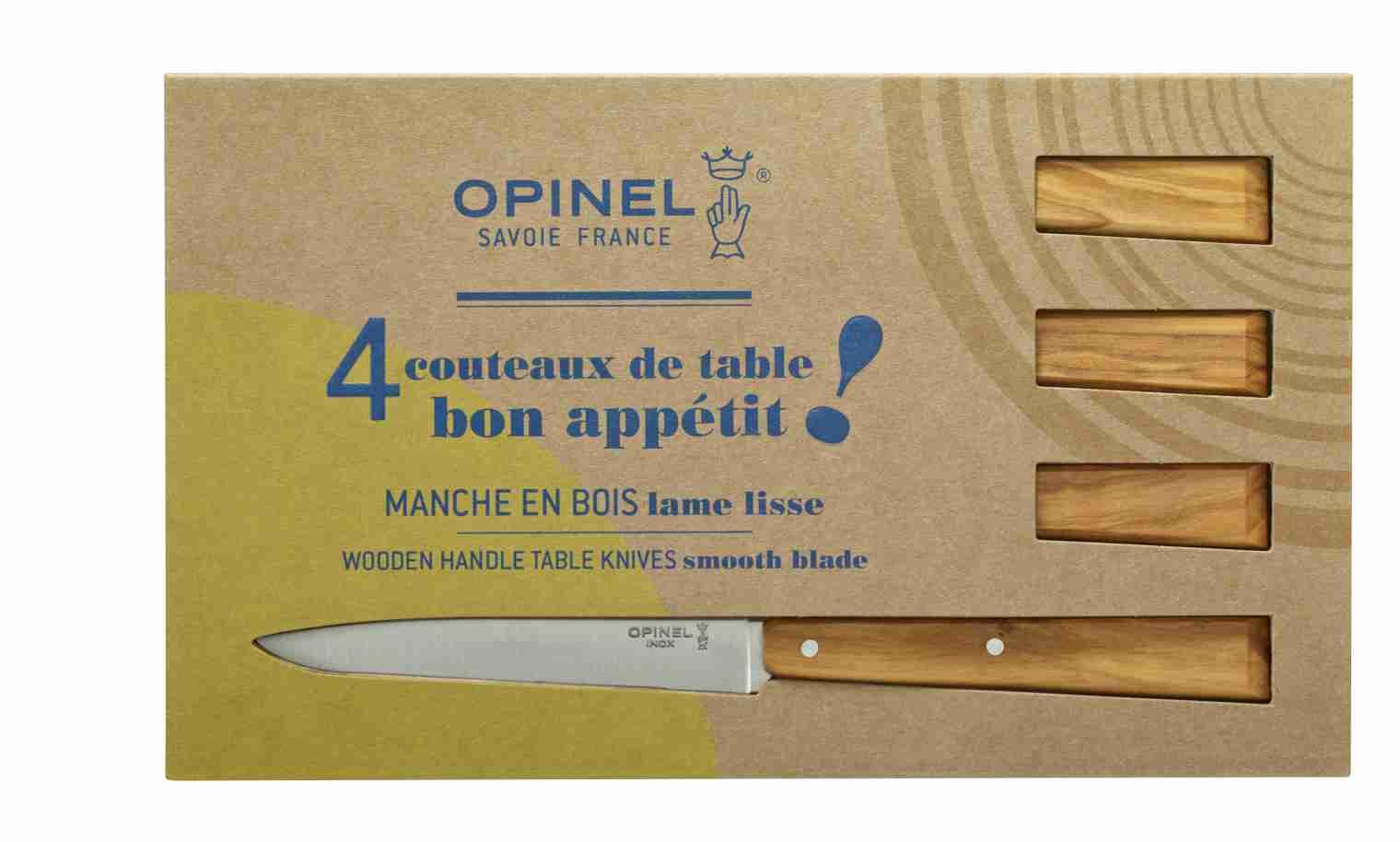Coffret De 4 Couteaux De Table N125 Bon Appetit Sud Opinel