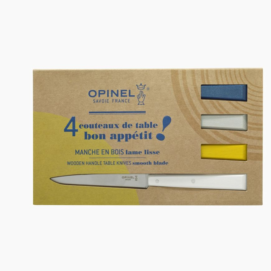 Set of 4 table knives N°125 Bon Appetit Céleste