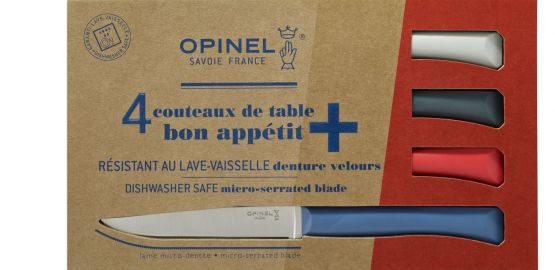 Set of 4 table knives N°125 Bon Appetit + Primo (variegated colours)