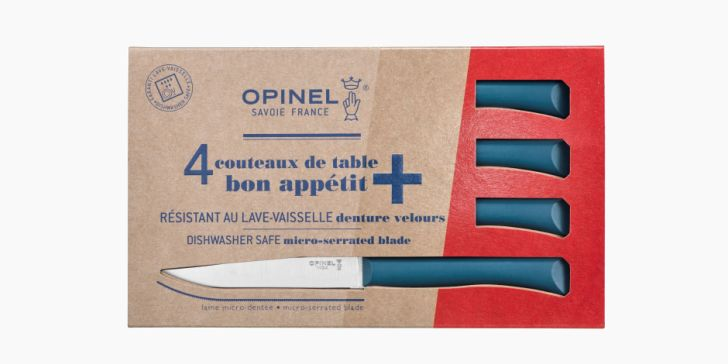 Set of 4 table knives N°125 Bon Appetit + Pigeon Blue