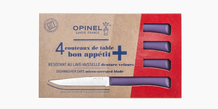 Set of 4 table knives N°125 Bon Appetit + Violet
