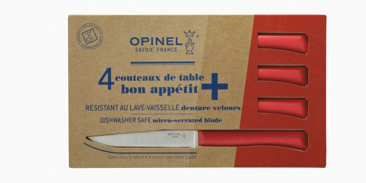 Set of 4 table knives N°125 Bon Appetit + Red