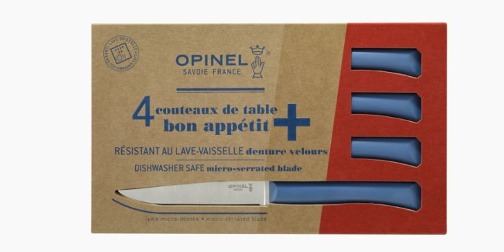 Set of 4 table knives N°125 Bon Appetit + Blue