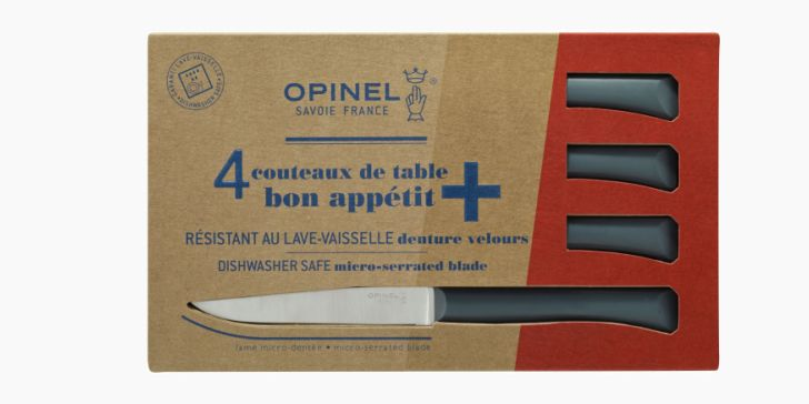 Coffret de 4 couteaux de table anthracites Collection Bon appétit +